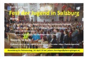 Permalink to:Fahrt zum Fest der Jugend nach Salzburg